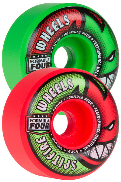 Spitfire Formula Four Radials Neuro Melon 53mm Roue (neon green pink) 4 Pack