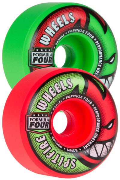 Spitfire Formula Four Radials Neuro Melon 52mm Roue (neon green pink) 4 Pack