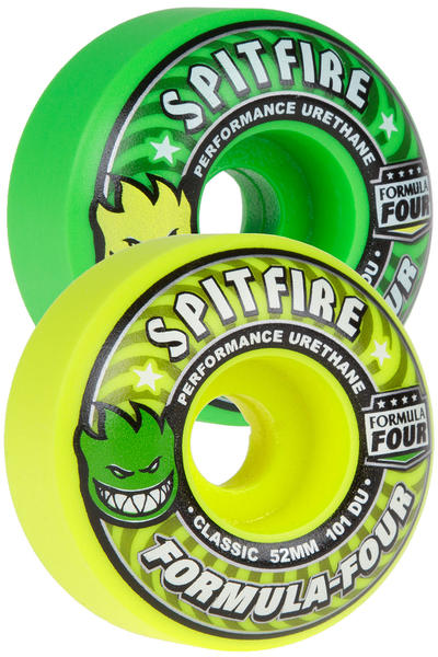 Spitfire Formula Four Classic Coolade 52mm Rollen (yellow green) 4er Pack