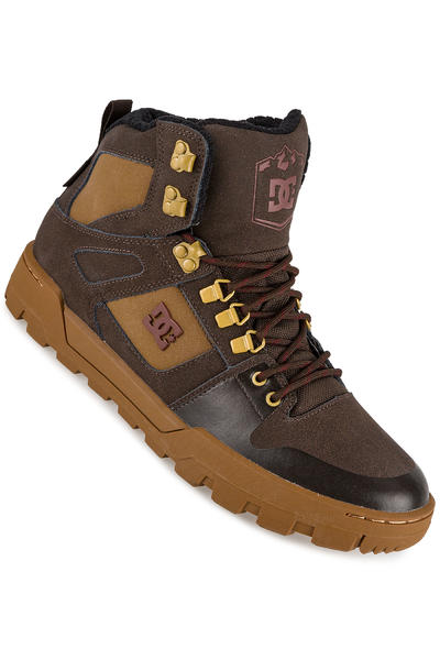 DC Spartan High WR Shoe (brown brown red)