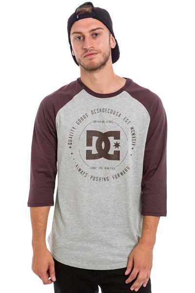 DC Rebuilt 2 3/4 Longsleeve (heather grey winetasting)