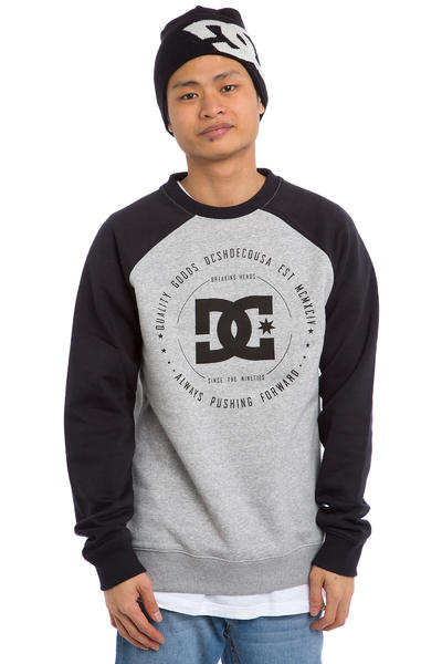 DC Rebuilt 2 Raglan Sweatshirt (heather grey black)