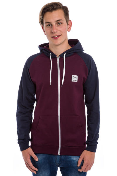 Iriedaily De College Zip-Hoodie (red wine)