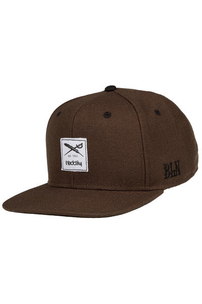 Iriedaily Daily Flag Snapback Cap (dark brown)