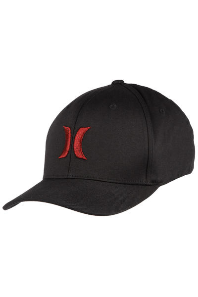 Hurley One & Only Black And White FlexFit Cap (light gym red)