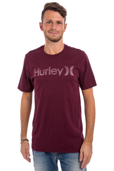 Hurley One & Only Push Through T-Shirt (night maroon)