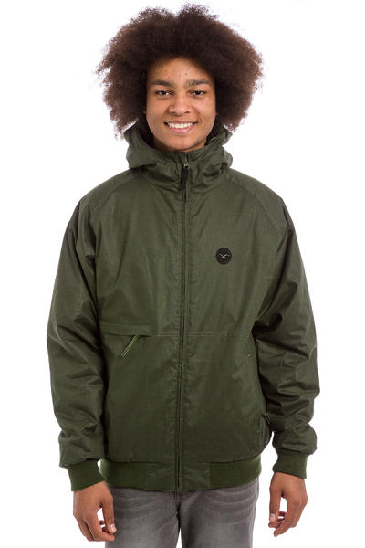 Cleptomanicx Polarzipper Hemp 2 Jacket (dark olive)