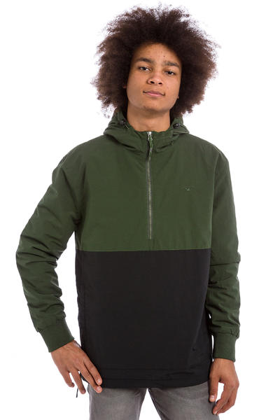 Cleptomanicx City Hooded Light Jacket (dark olive)