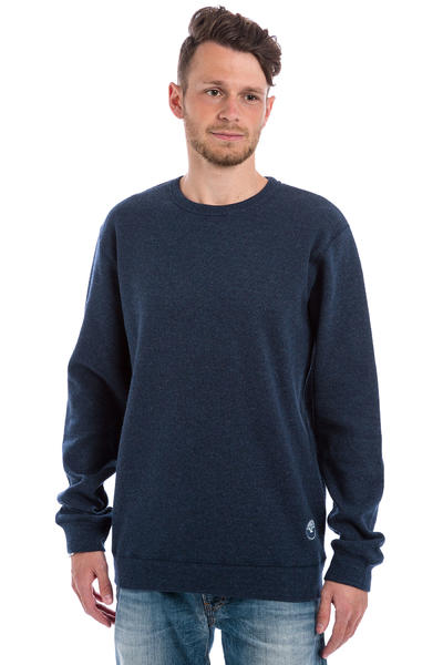 Cleptomanicx Woozer Sweatshirt (heather dark navy)