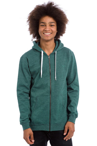Cleptomanicx Ligull 2 Zip-Hoodie (heather deep teal)