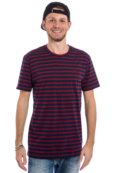 Cleptomanicx Classic Stripe T-Shirt (dark navy)