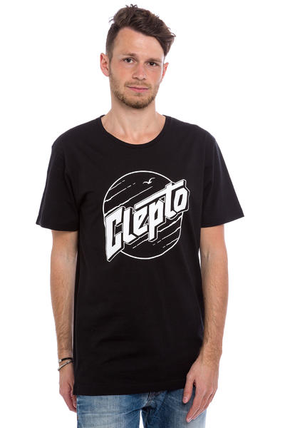Cleptomanicx Circle T-Shirt (black)