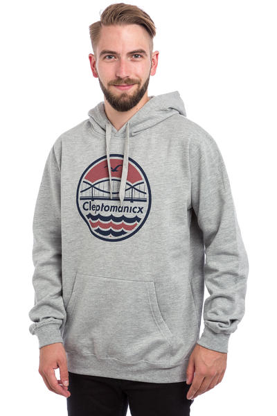 Cleptomanicx City Bridge Hoodie (heather grey)