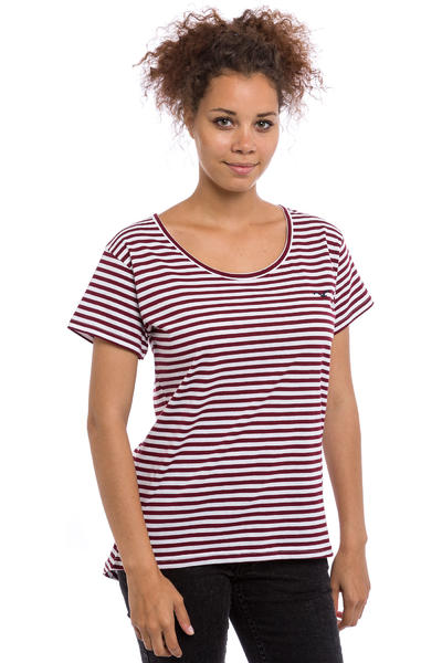 Cleptomanicx Möwe Stripes T-Shirt women (tawny port)