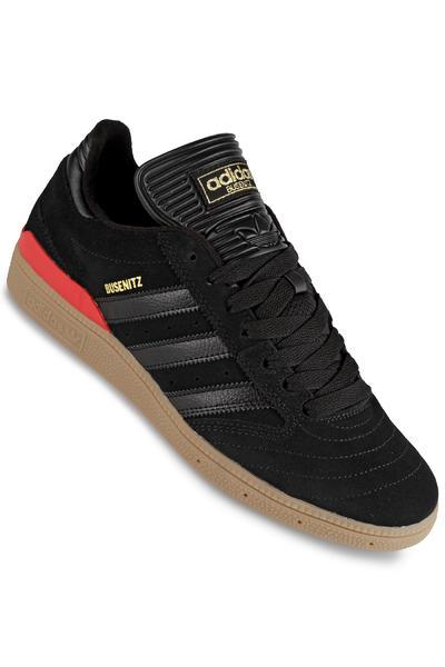 adidas Skateboarding Busenitz Shoe (black black scarlet)