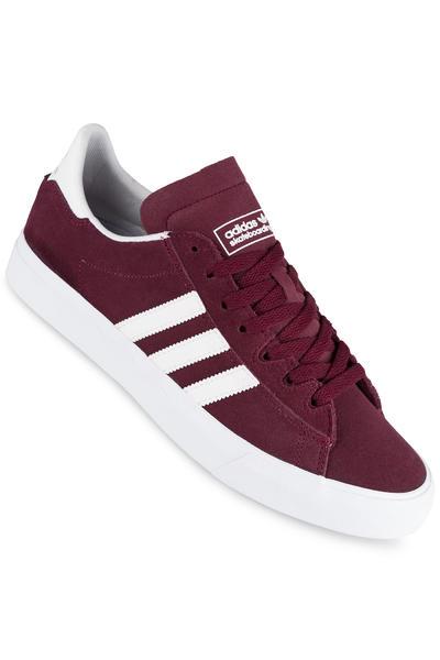 adidas Skateboarding Campus Vulc II ADV Shoe (maroon white white)