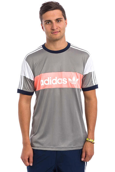 adidas Premiere T-Shirt (solid grey white sun glow)