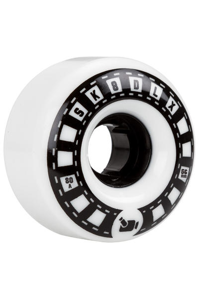 SK8DLX VHX Cruiser Series 56mm Wheel (white black) 4 Pack