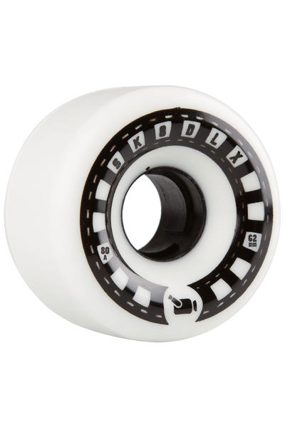 SK8DLX VHX Cruiser Series 62mm Rollen (white black) 4er Pack
