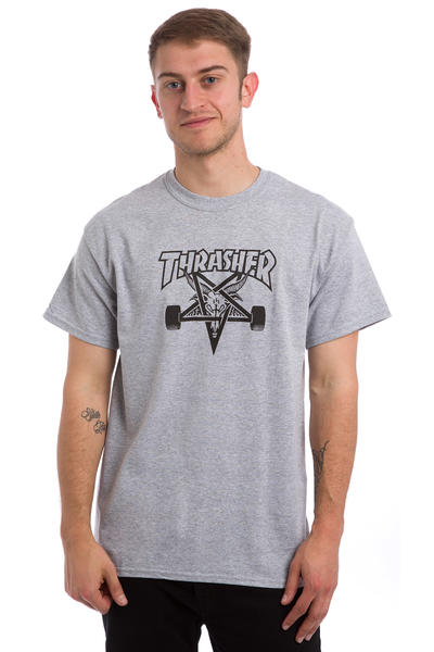 Thrasher Skate-Goat Camiseta (heather grey)