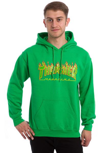 Thrasher Flame Rasta Hoodie (green)