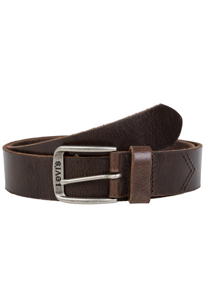 Levi's Classic Top Logo Buckle Belt (dark brown)
