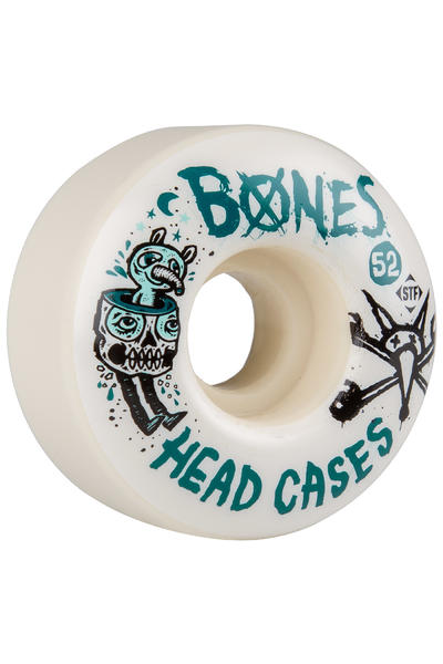 Bones STF Head Cases 52mm Rollen (white) 4er Pack
