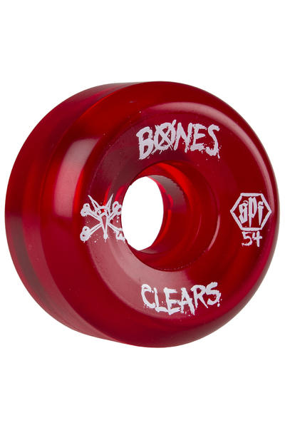 Bones SPF Clears 54mm Rollen (clear red) 4er Pack