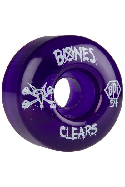 Bones SPF Clears 54mm Rollen (clear purple) 4er Pack
