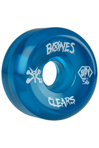 Bones SPF Clears 56mm Rollen (clear blue) 4er Pack