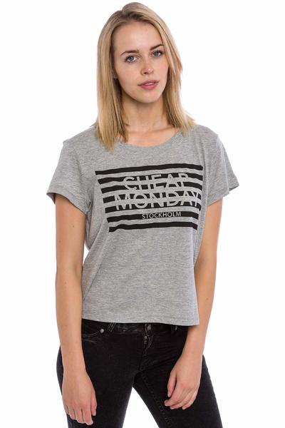 Cheap Monday Had Stripe Logo T-Shirt women (grey melange)