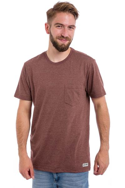 Element Basic CR Pocket T-Shirt (oxblood red heather)