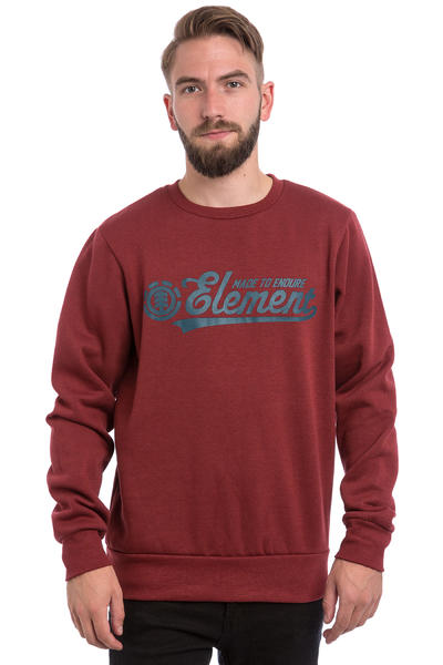 Element Signature Sweatshirt (oxblood red)