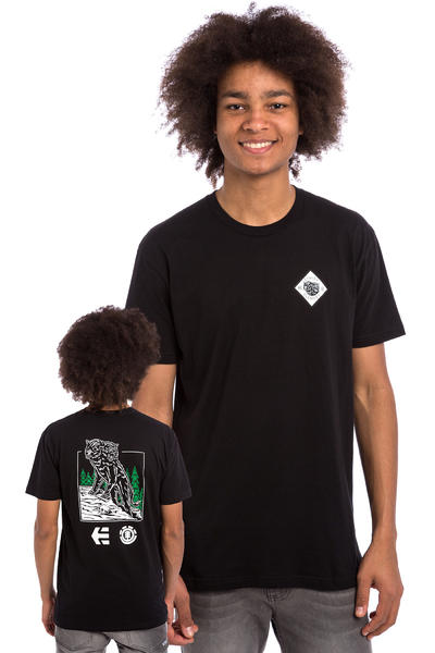 Etnies x Element Two Headed Wolf T-Shirt (black)