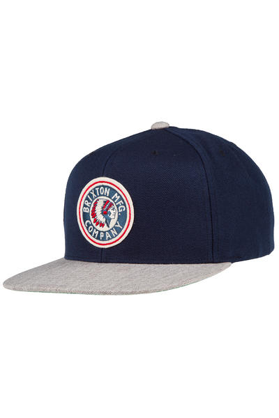 Brixton Rival Snapback Cap (navy light heather grey)