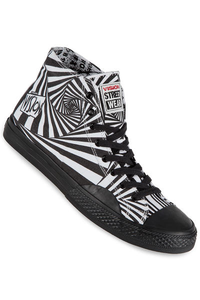 Vision Streetwear Canvas Hi Shoe (black white)