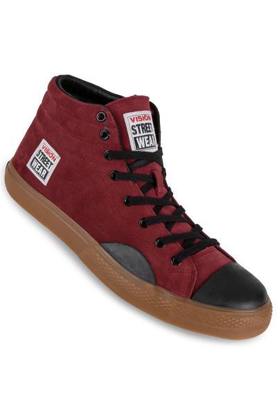 Vision Streetwear Suede Hi Schuh (burgundy)