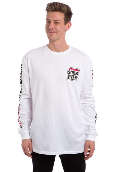 Vision Streetwear Logo LS Longues Manches (white)