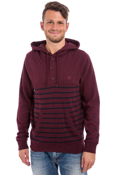 Element Premium Cornell Henley Hoodie (napa red)