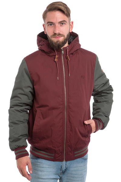 Element Dulcey Jacke (napa red stone grey)