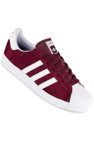 adidas Superstar Vulc ADV Shoe (maroon white white)