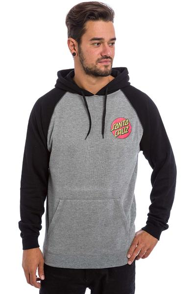 Santa Cruz Small Dot Hoodie (black dark heather)