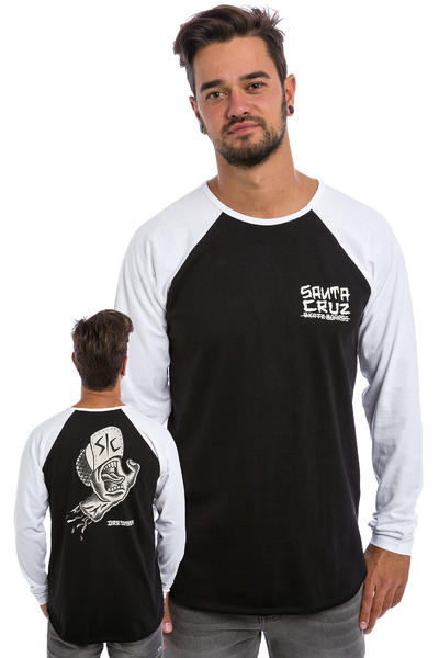 Santa Cruz Dressen Hand Baseball Longues Manches (white black)