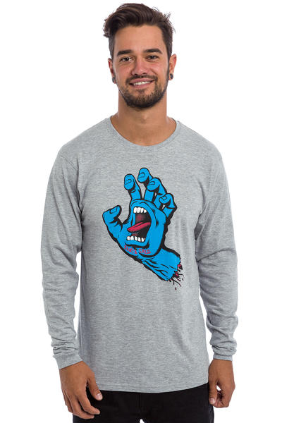 Santa Cruz Screaming Hand Longsleeve (dark heather)