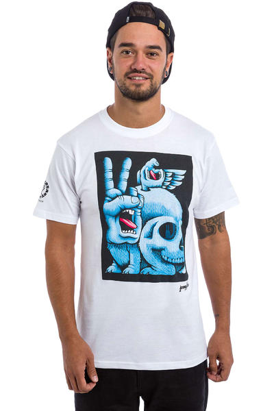Santa Cruz Fish Hand Camiseta (white)