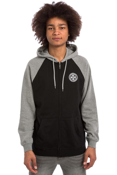 Independent ITC Cross Zip-Hoodie (black dark heather)