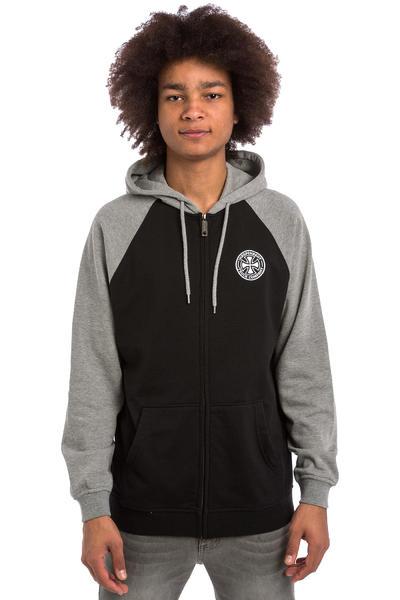 Independent ITC Cross Zip-Sweatshirt avec capuchon (black dark heather)
