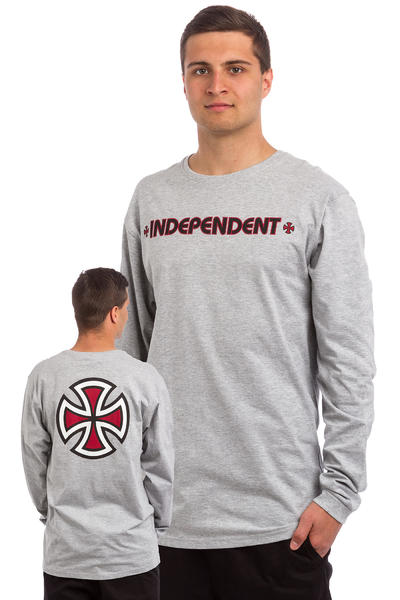 Independent Bar Cross Camiseta de manga larga (dark heather)