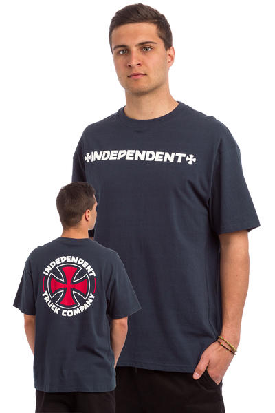 Independent ITC Cross T-Shirt (indigo)