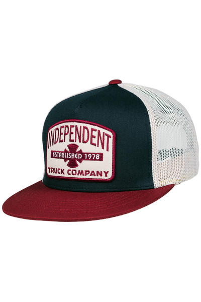Independent Garage Trucker Cap (indigo oxblood)